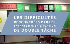 Les difficultés rencontrées par les enfants dys en situation de double tâche Logo, Adhd, Dysgraphia, Dyslexia, Comprehension Questions, First Language, Logos, Logo Type