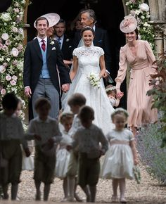 The wedding of Pippa Middleton and James Matthews ♡ May 20th, 2017. With a peal of bells ringing out across the Berkshire countryside, they walked hand in hand slowly along the church path. In touching scenes in front of them, the group of young page boys and bridesmaids led the way.