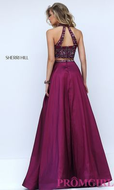 Prom Dresses, Celebrity Dresses, Sexy Evening Gowns: Sherri Hill Two Piece Dress with Beaded Top