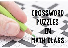 classroom tips, teaching ideas & resources for teaching high school math Teaching Activities, Teaching Math, Teaching Ideas, Anchor Activities, Teaching Strategies, Math Resources, Teaching Tools, Crossword Puzzles, Maths Puzzles