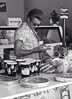 James Dean shopping.