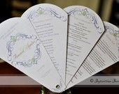 Wedding Programs fanned out
