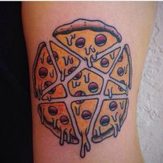 Penta-pizza tattoo