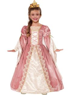 Check out Girl's Victorian Rose Costume - Renaissance Girls Costumes from Wholesale Halloween Costumes