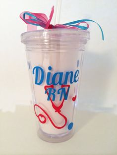 Personalized Tumbler for the Nurse Custom by PersonalizedbyDawn, $10.00
