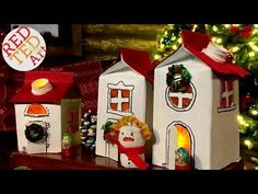 Recycled DIY Winter Village Luminaries - Red Ted Art's Blog