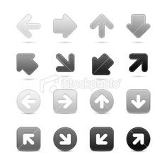Look more my images http://www.istockphoto.com/search/portfolio/4680678/#2af6265 — Arrow sign internet icon grayscale web button with drop shadow. Attached ZIP folder contains 16 additional variants (32 files). Keyword: Symbol Cursor Computer Icon Interface Set Push Circle Downloading Direction Gray Down Black Up Connection Next Variation Satin Series Set Directional Arrowhead Square Shape Softness Smooth Symbol Grayscale #royalty #free #stock #vector #illustration $6 to $8.35 per download