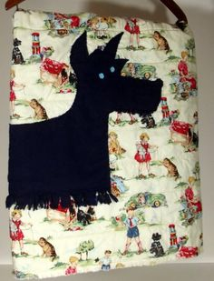 sweet scottie rag quilt boy or girl baby quilt by marylandquilter, $66.00