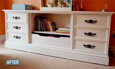 what to do with old dressers | Refurbish/paint/re-do old dresser for updated look