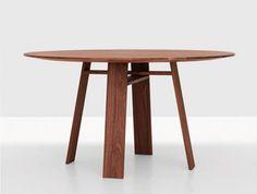 zeitraum germany   bondt round table in solid walnut  http://spencerinteriors.ca/Zeitraum.html