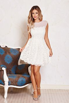 Rochie Fofy Charming Look Nude Nude Dress, White Midi Dress, Gowns, Weddings, Collection, Interior, Dresses, Fashion, Vestidos