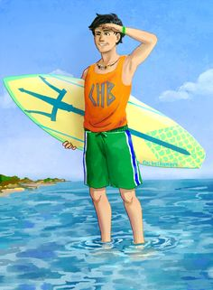 Percy Jackson surf by rachelhungry.deviantart.com on @deviantART
