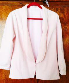 Saco con solapa en color rosa palo