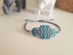 Bracelet tissage brick stitch en perles miyuki N°2