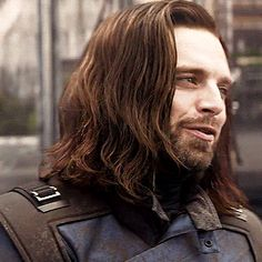 This is the cutest thing ever!<<<Thank you to whoever it was in Wakanda who made him wash his hair Stucky, Marvel Characters, Marvel Movies, Marvel Actors, Sebastian Stan, Loki Thor, Bucky Barnes Captain America, Winter Soldier Bucky, Bucky And Steve