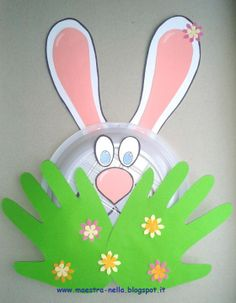 maestra Nella Animal Crafts For Kids, Easter Crafts For Kids, Toddler Crafts, April Easter, Easter Bunny, Classroom Crafts, Preschool Crafts, Kindergarden Art, Bunny Crafts