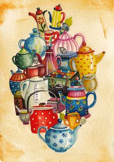 Aitch - Things that fit inside a heart - tea Tea Quotes, Cuppa Tea, Teapots And Cups, Tea Art, My Cup Of Tea, Art Plastique, Alice In Wonderland, Tea Time, Just In Case