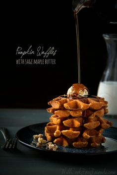 Pumpkin Waffles with Sage Maple Butter | Will Cook For Friends by WillCookForFriends, via Flickr