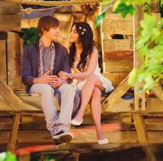 Troy's treehouse, HSM3.  I loved Gabriella's hair clips & dress.