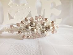 Side Tiara bridal hair, bride bridesmaid, wedding prom folksywedding £64.50