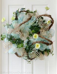 spring summer deco poly mesh wreath ideas