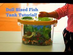 ▶ American Girl Doll Sized Fish Tank Craft Tutorial!! - YouTube