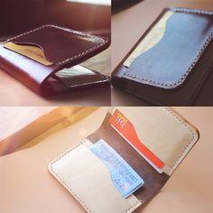 #leather #leathercraft #indonesia #jogja #kulit #hoslygoods #wallet #card