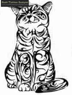 19 Ideas For Tattoo Cat Silhouette Cross Stitch Arte Tribal, Tribal Art, Tribal Tattoo Designs, Tribal Tattoos, Cat Tattoos, Tattoo Cat, Pi Tattoo, Stammestattoo Designs, Coloring Books