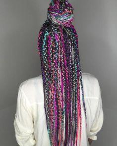 Peinado vibrante con trenzas de caja