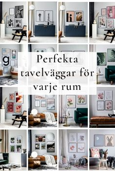 Discover our inspiration rooms with lots of gallery walls in different styles. With one easy click you can shop your favorite gallery wall online - today! Small Space Interior Design, Interior Design Living Room, Nursery Decor, Room Decor, Parisian Apartment, Poster Wall, Picture Wall, Small Spaces, Sweet Home