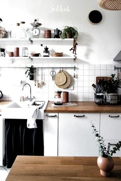 Healthy people 2020 obesity and poverty action: Studio Kitchen, Kitchen Dining, Dining Room, Küchen Design, Healthy People 2020, Clawfoot Bathtub, Decoration, Double Vanity, Floating Shelves