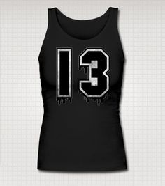 Lucky 13 Tank Top by StuffoftheDead on Etsy