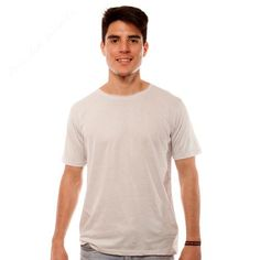 Basic Plain Light Grey Tee