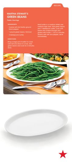 Can't go wrong with classic green beans as a side dish! And we've got the perfect serving dish from the Martha Stewart Collection to help you bring it to the table.