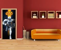Star Wars Amazing Mural By WallandMore. Can be applied both on the wall and door. Star Wars Wallpaper, Wallpaper Murals, Most Popular Movies, Kids Wall Murals, Item Number, Kids Bedroom, Stars, Amazing, Home Decor