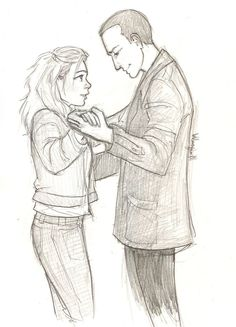 doctor who dw fan art ninth doctor rose tyler by burdge bug
