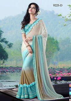 Sari Bollywood Indian New Embroidery Party Wear Designer Saree Blouse Freeship #Shoppingover #SariSaree