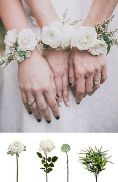 Make this beautiful corsage with silk flowers and ribbons from http://afloral.com #diycorsage