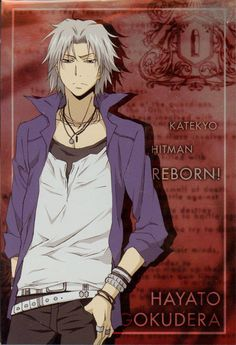"""Gokudera Hayato - """"Continuously at the heart of the attack, the furious Storm that never rests."""""""
