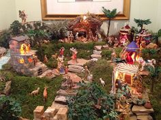 This is called a 1 upper nativity scene. No way someone can do better than this! Christmas Crib Ideas, Christmas Table Decorations, Christmas Holidays, Christmas Crafts, Christmas Bells, Christmas Printables, Xmas, Christmas Nativity Scene, Christmas Villages