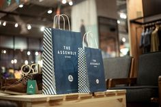 Branding design for The Assembly, a multi-label lifestyle store targeted at men's fashion