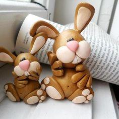 *POLYMER CLAY...Rabbits