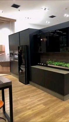 Kitchen Pantry Design, Luxury Kitchen Design, Contemporary Kitchen Design, Luxury Kitchens, Modern House Design, Interior Design Kitchen, Kitchen Ceiling Design, Küchen Design, Design Case