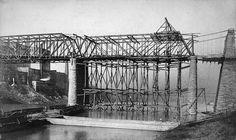 1885 Construction of the Railroad Bridge over the Cumberland River in Nashville, TN