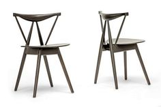 Baxton Studio Mercer Brown Wood Modern Dining Chair | Affordable Modern Furniture in Chicago
