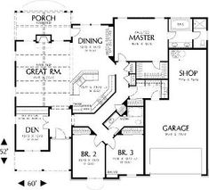 single story house floor plans   Plan W69022AM: Northwest, Cottage, Photo Gallery House Plans & Home ... by judy