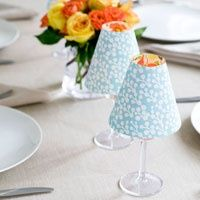 DIY Candle Lampshade Craft - personalize her dorm room with these handmade lamps!