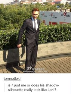 Tom, your Loki is showing...Okay, this is kind of scary, but I like it.