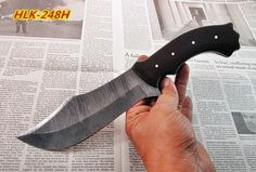Damascus Custom Made Hunting Knife,Two Tune G10 Micarta Handle.HLK-248H #Homelandknives