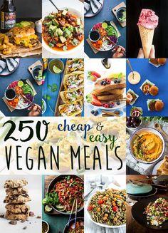 250+ Cheap & Easy Vegan Meal Ideas